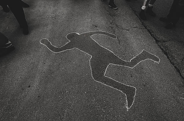 chalk outline